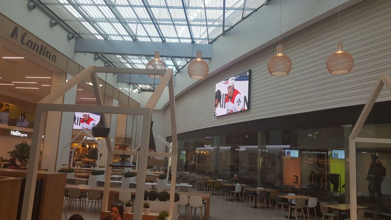 LED Wall em Centros Comerciais